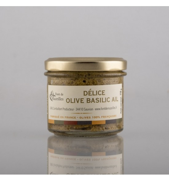 délice olive verte basilic 90 gr